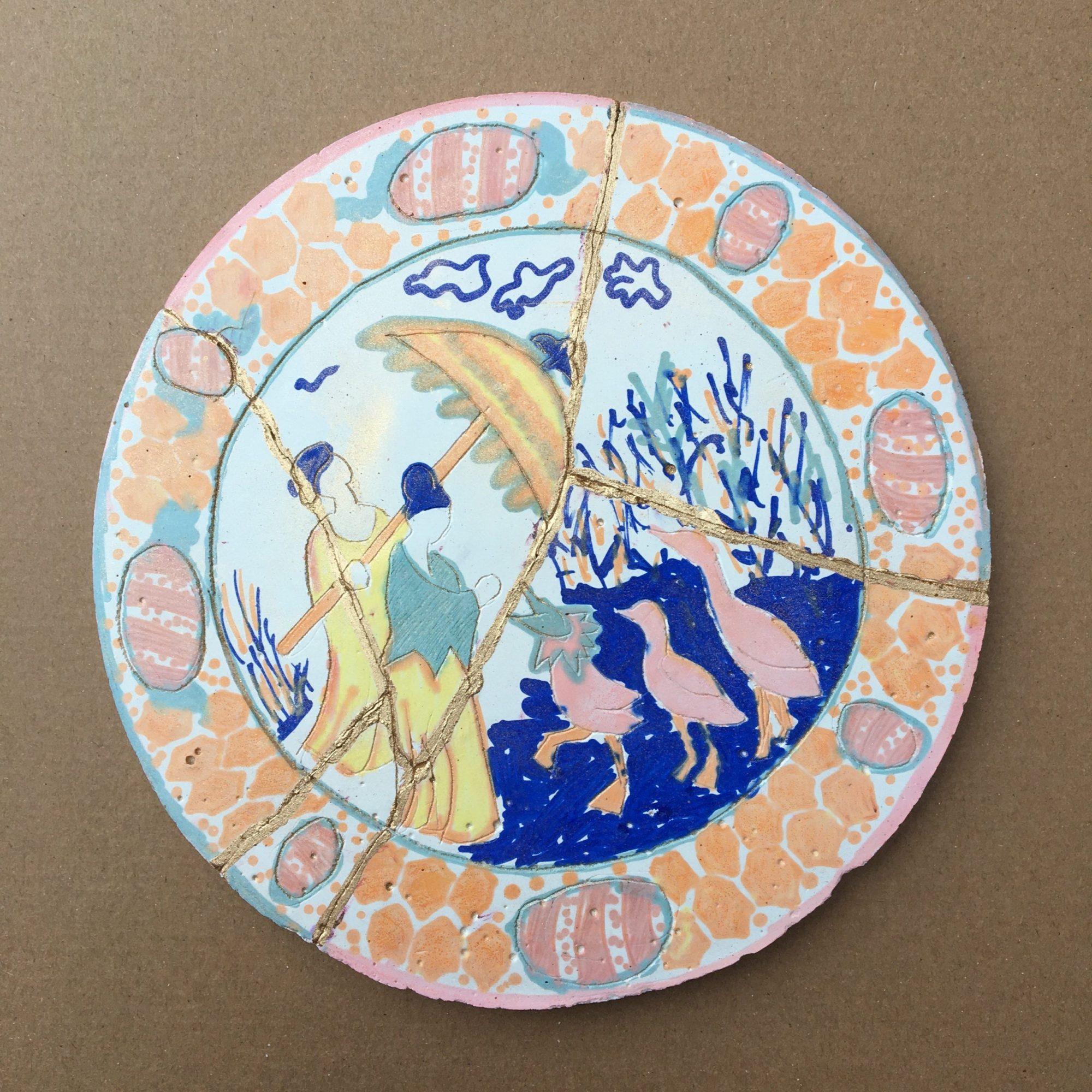 Yasemin's plate (Oxford Hub volunteer)